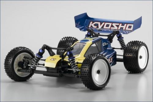 1:10 BLS 4WD Lazer ZX-5 gelb-blau Hype Kyosho 30861-T2BLS
