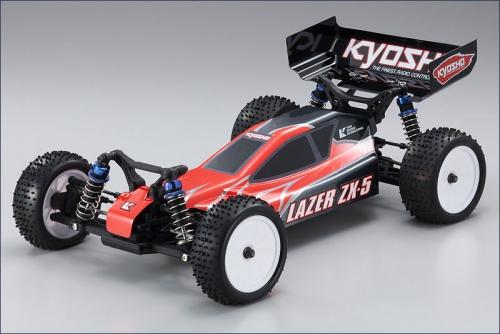 1:10 BLS 4WD Lazer ZX-5 rot-grau Hype Kyosho 30861-T3BLS