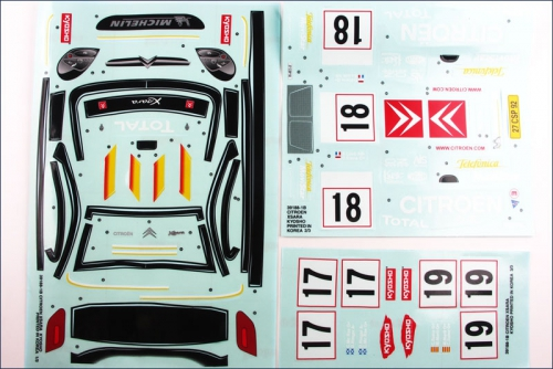 Dekorbogen Citroen Xsara WRC 2003 Kyosho 39188-01B