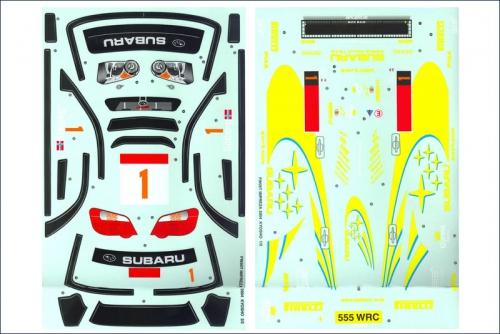 Dekorbogen 1:10 Subaru Impreza WRC 2004 Kyosho 39263-01