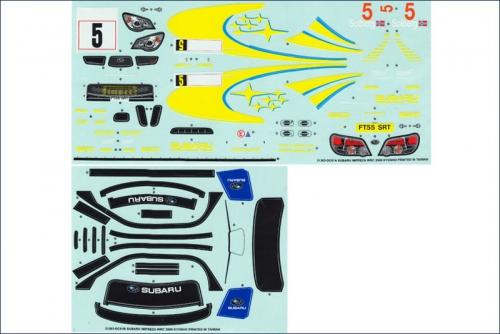 Dekorbogen 1:10 Subaru Impreza WRC 2006 Kyosho 39275-01