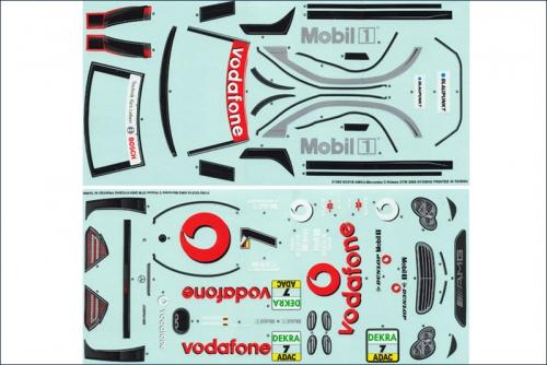 Dekorbogen 1:10 AMG Mercedes DTM 2005 Kyosho 39276-01