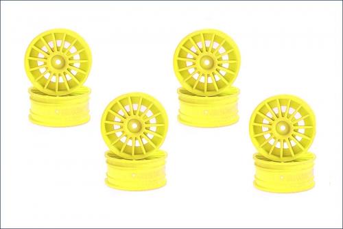 Felge 1/10, 24 mm, Speichen, gelb (8) Kyosho 92012-08KY
