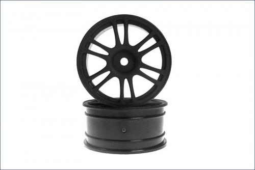 Felge 1/10, 26 mm, Speichen, schwarz (2) Kyosho 92015BK