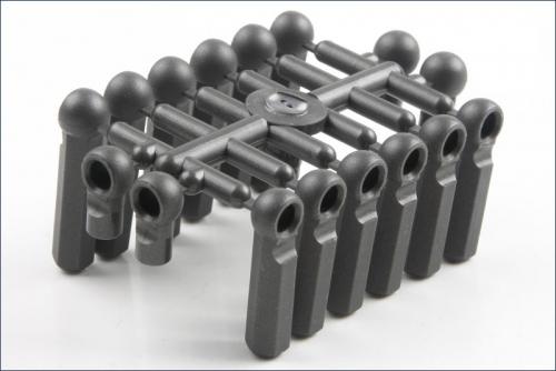 Kugelkopfanschluesse L10/23/28mm Kyosho 97021H