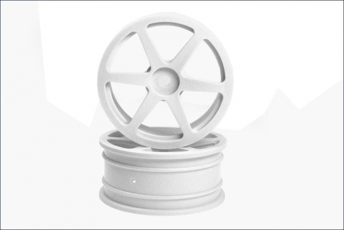 Felge 1/10, 24 mm, Stern, weiss (2) Kyosho AGH-01W