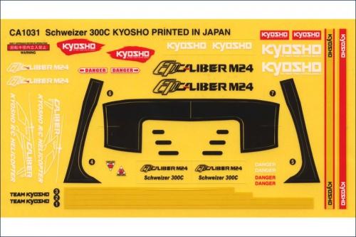 Dekorbogen Caliber M24 Schweizer 300C Kyosho CA-1031