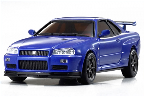 Karosse FX-101MM GT-R R34, blau-met. Kyosho DNX-401-MB