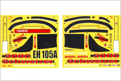 Dekorbogen Hughes 300 Schweizer Kyosho EH-109A