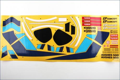 Dekorbogen Hughes 500 Kyosho EH-76