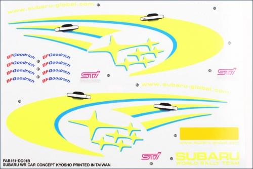 Dekorbogen Subaru Impreza WRC Kyosho FAB-151-01