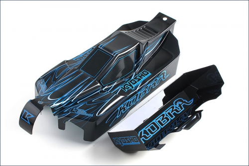 Karosserie Kobra, blau, lackiert Hype Kyosho FAB-202