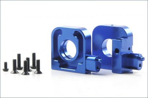 Lagerbock L/R, blau, alu, hinten Kyosho KTW-004
