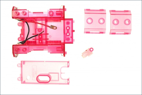 Chassis rot-transparent Kyosho MMF-02-CP