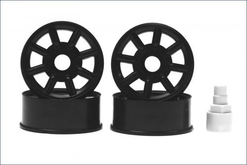 Felge 1:24,8-Speichen,schwarz 8,5mm (2) Kyosho MZ-19