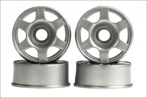 Felge 1:24,6-Stern,silber 8,5mm(4) Kyosho MZ-25
