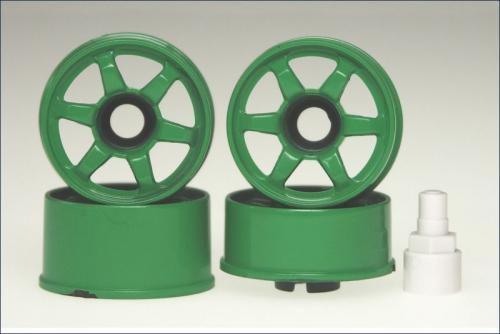 Felge 1:24,6-Stern,gruen 8,5mm (4) Kyosho MZ-32GR