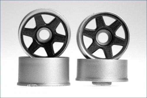 Felge 1:24,6-Stern,eisen, 8,5/11mm (4) Kyosho MZ-41GM
