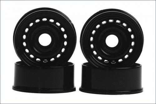Felge 1:24,Loch,schwarz 8,5mm (4) Kyosho MZ-46