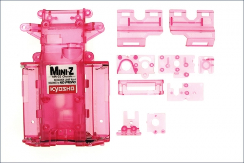Chassis Mini-Z MR-02, rot-transparent Kyosho MZF-201CP