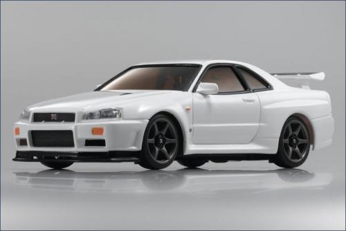 Karosse 1:24 AWD Skyline GT-R R34, weiß Kyosho MZG-401-W