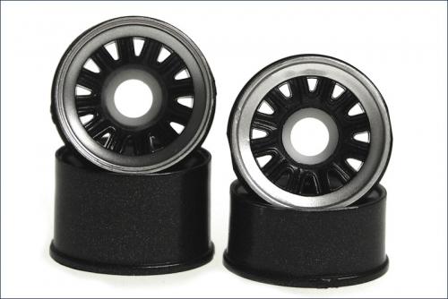 Felge 1:24,Classic, schwarz 8,5/11mm (4) Kyosho MZH-101C
