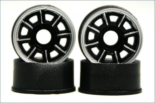 Felge 1:24,Loch,schwarz 8,5mm (4) Kyosho MZH-104C