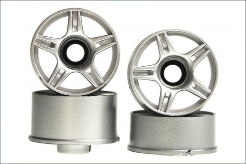 Felge 1:24,5-Stern,silber 8,5/11mm (4) Kyosho MZH-201