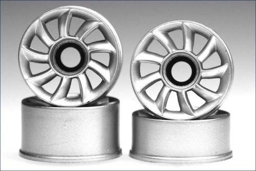 Felge 1:24,Speiche,silber 8,5/11mm (4) Kyosho MZH-214