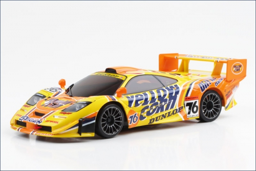 Karosse 1:24 MR-03 Mclaren F1-GTR gelb Kyosho MZP-213-YC