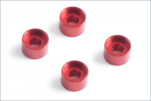 Daempferhalterungsbuchsen 3.0mm, rot (4) Kyosho MZW-418-30