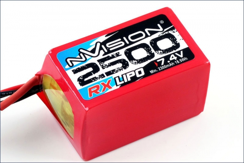 Nvision RX 2500 6.0V Hump LiPo w/Uni Plu Kyosho NVO1504