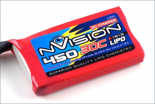 nVision LiPo 2s 7,4V 450 20C Kyosho NVO1800