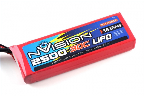 nVision LiPo 4s 14,8V 2500 20C Kyosho NVO1814