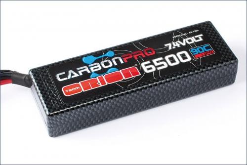 Carbon Pro 6500mAh 90C 7.4V Deans Team Orion ORI14042