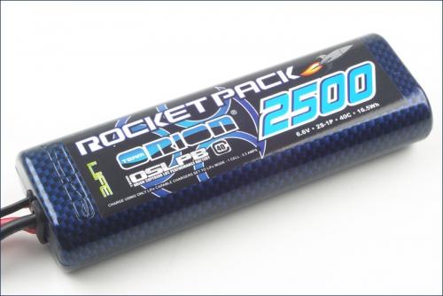 Rocket Pack LiFe 2500 6.6 V 40C Team Orion ORI15109