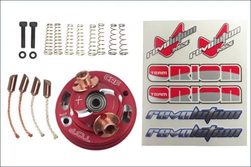 Endbell Set  Rot, Conversion Set zum V2 Team Orion ORI41504