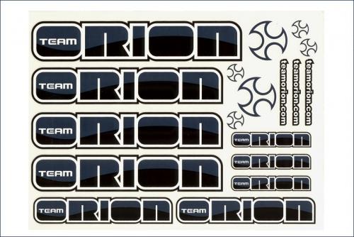 Dekorbogen  schwarz/silber Team Orion ORI43320