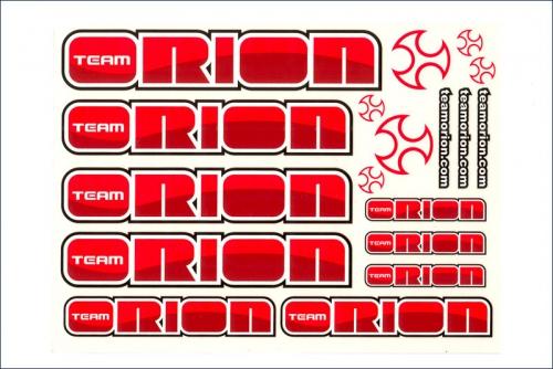 Dekorbogen  rot/silber Team Orion ORI43321