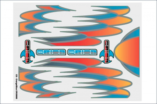Grafiksset Innenraum  CB Orange/Blau Team Orion ORI59060