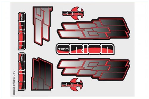 Grafiksset Innenraum  F-N-F Rot/Schwarz Team Orion ORI59066