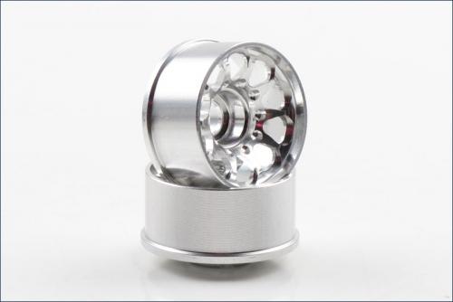 Felgen CE28N N-17mm Off-Set 2.0mm, silbe Kyosho R246-1772