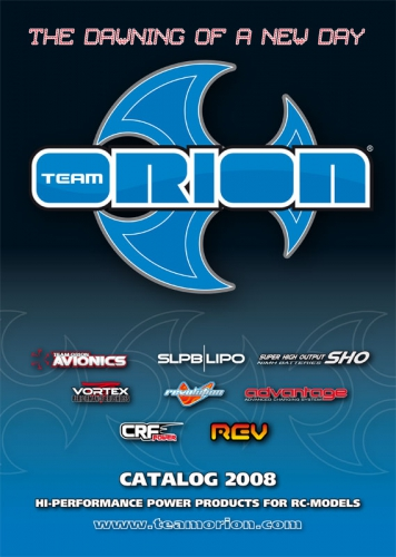 Hauptkatalog Team Orion 2008, englisch Hype Kyosho TO-2008E
