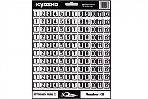 Startnummern 10x12, weisse Folie Kyosho TQG-01