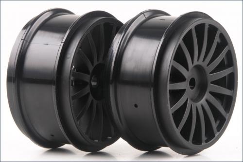 Felge DRX, schwarz (2) Kyosho TRH-121BK