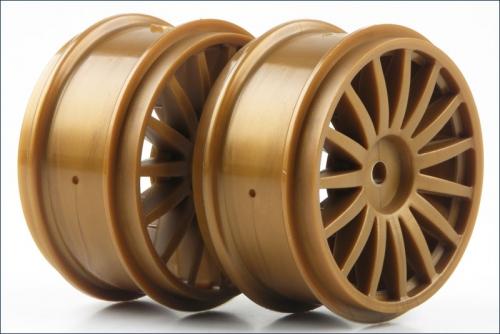 Felge DRX, 15-Speichen, gold (2) Kyosho TRH-121GL