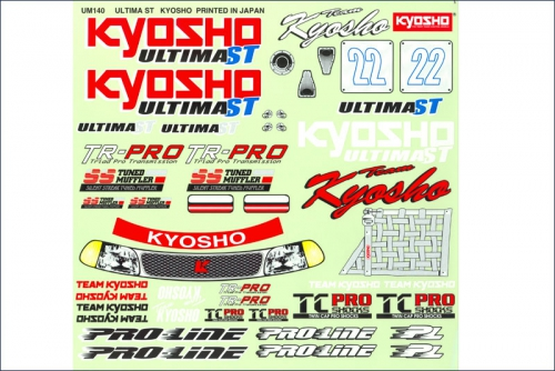 Dekorbogen 1:10 Ultima ST Type-R Kyosho UM-140