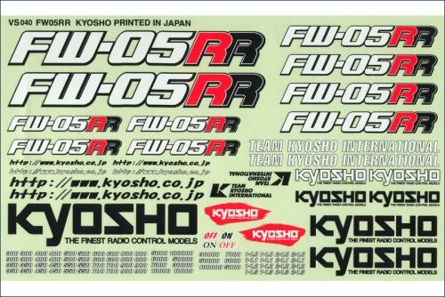 Dekorbogen FW05RR Kyosho VS-40