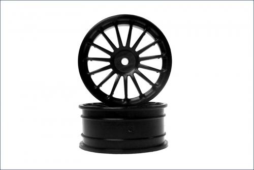 Felge 15-Speichen, schwarz, 24mm (2) Kyosho VZH-03BK