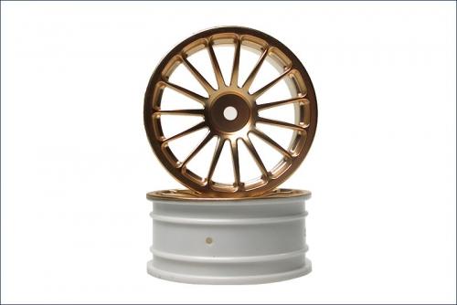 Felge 15-Speichen, gold, 24mm (2) Kyosho VZH-03GL